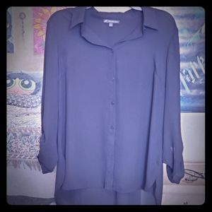 Adriana Papell Black Button Down Top